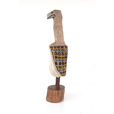 Tiwi Islands, Bird, Carved Ironwood and Ochre