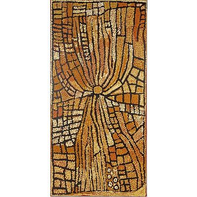 Naata Nungurrayi (Pintupi c.1932-) Womens Travels 2004, Acrylic on Linen