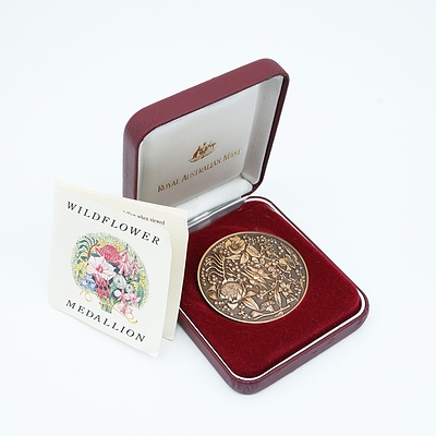 Royal Australian Mint Bronze Wildflower Medallion
