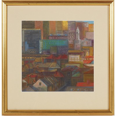 Jerzy W. Michalski (Poland, Australia 1949-) Hobart City Sketch, Oil on Paper