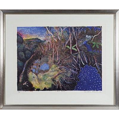 William Robinson (1936-) Blue Pools 2000, Colour Lithograph Edition 84/100