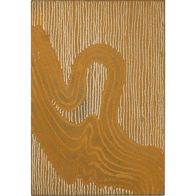 Jonathan Kumintjarra Brown (1960-1997) Sandhills At Ooldea - Johns Grandfather's Country 1997, Sand and Acrylic on Linen