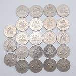 Twenty Three Australian 2001 Centenary of Federation 50 Cent Coins, Including ACT, NSW, TAS, QLD, WA and Norfolk Islands