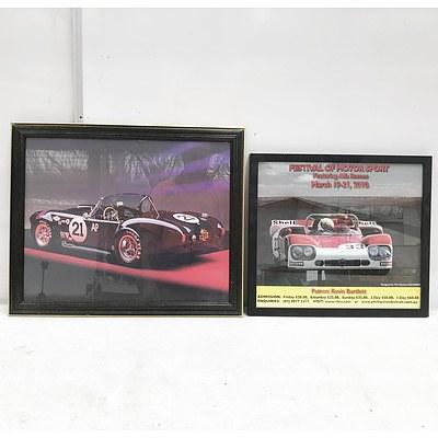 Two Framed Car Prints