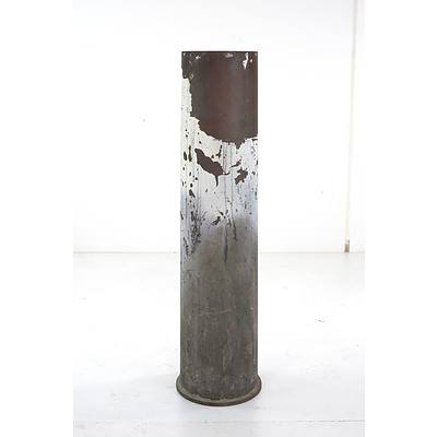 Large Brass Naval Shell, Height 75cm