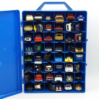 Hot Wheels Carry Case with 48 Hot Wheels, Matchbox and Other Cars