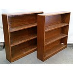 Two Matching Wooden Bookshelves
