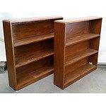 Two Matching Wooden Bookshelves