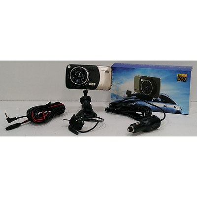 WDR Vehicle Traveling Data Recorder HD Front and Reverse Camera - Brand New
