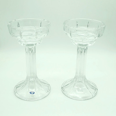 Two Bohemia Lead Crystal Chalices From Czech Republic