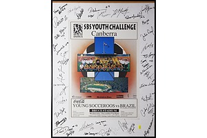 Signed Young Soccaroos 1992 Framed Poster