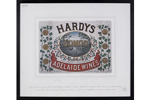 Hardys Oomoo Classic Label Print Signed by Bill Hardy