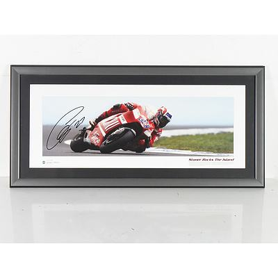 Limited Edition Framed Picture of Casey Stoner 167/250 *Signed COA*