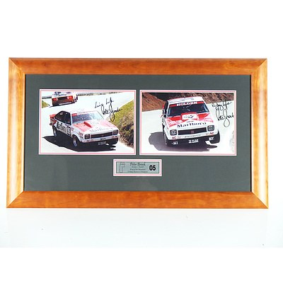 Framed 'King of the Mountain' *Peter Brock Signed* Images and Signed Hat