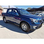 5/2012 Ssangyong Actyon Sports SX Q100 MY12 Double Cab Utility Blue 2.0L