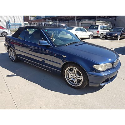 11/2003 Bmw 3 30Ci E46 2d Convertible Blue 3.0L
