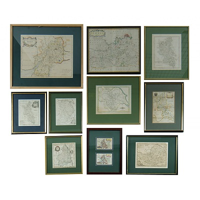 11 Various Early Maps of English Counties