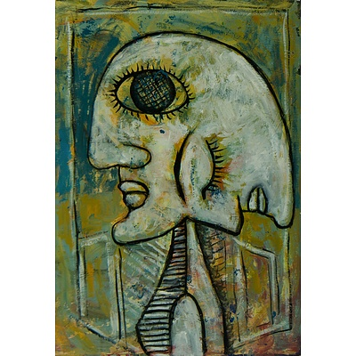Unknown Artist Cubist Painting (Double Face)