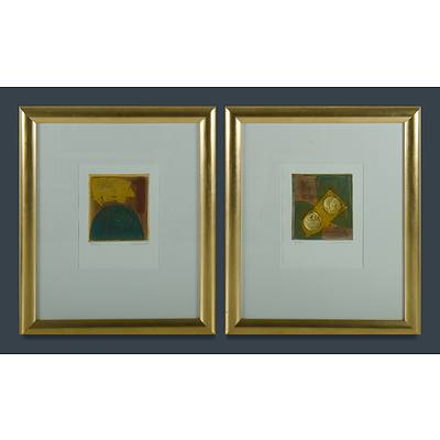 CARAMBANO Conchita (b.1961) Two Works, 'Majolica' & 'Tucson'
