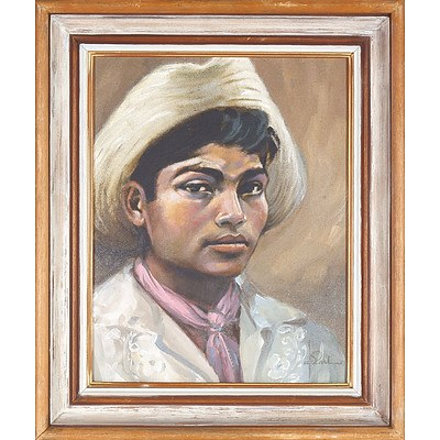 EARL Jack (1908-1994) 'Joaquin, Mayan Spanish Youth from Manzanillo Mexico' 1968