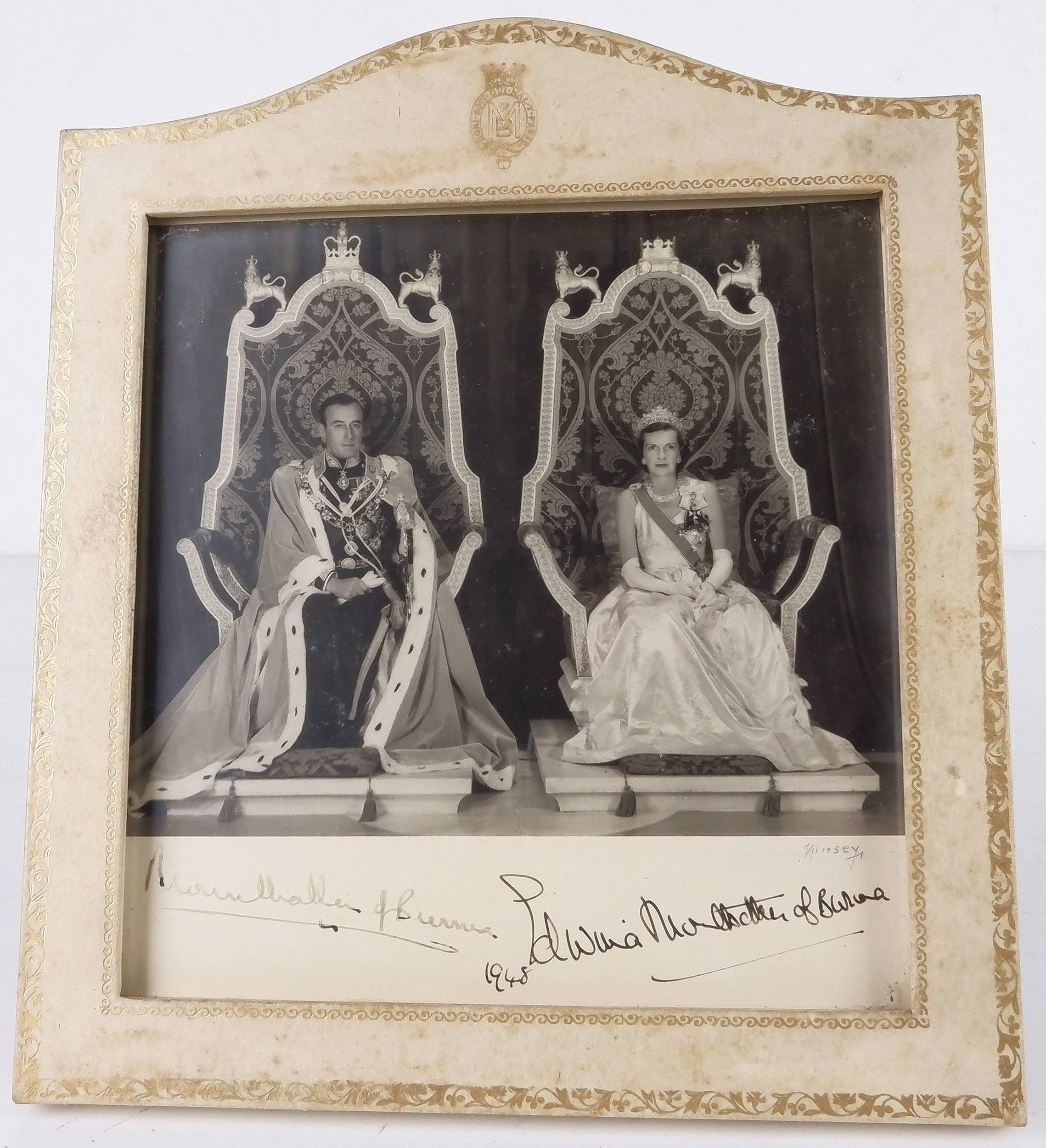 'Signed Photo of Louis Mountbatten, 1st Earl Mountbatten of Burma and Countess Edwina Ashley'
