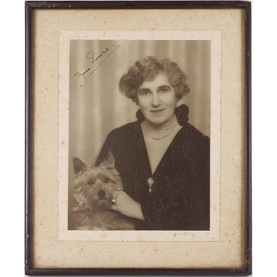 Signed Portrait of Lady Zara Hore-Ruthven (1879-1965), Countess of Gowrie