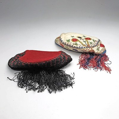 Pair of Eurasian Cultural Hats with Tassles