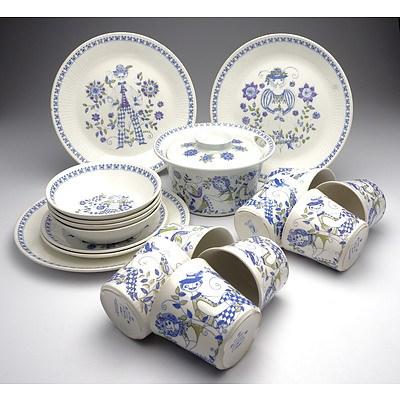 Turi Design Lotte Handpainted Silkscreen 18 Piece Tea Service