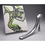 Manolo Blahnik New Shoes Book and Manolo Blahnik Cast Aluminum Shoe Horn