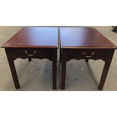 Two Drexel Heritage Bedside Tables