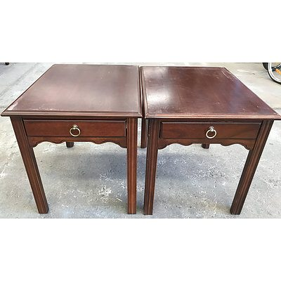 Two Drexel Heritage Bedside Tables