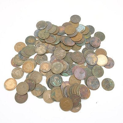 Large Group of George IV Australian Pennies 1938 and Onward