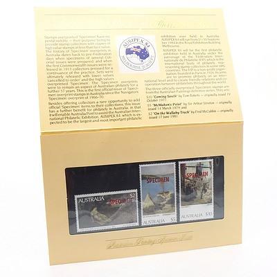 Australian Paintings Specimen Stamp Issue
