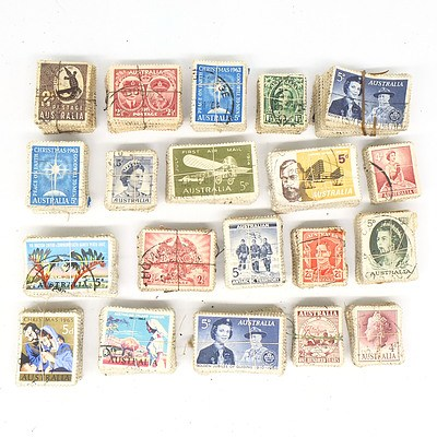 Twenty Bulk Lots of Australian Pr-Decimal Stamps
