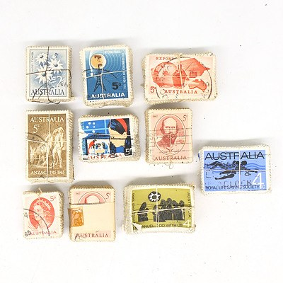 Ten Bulk Lots of Australian Pre-Decimal Stamps