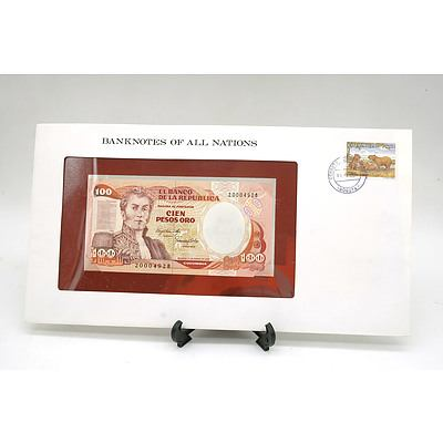 Columbia One Hundred Peso Banknote