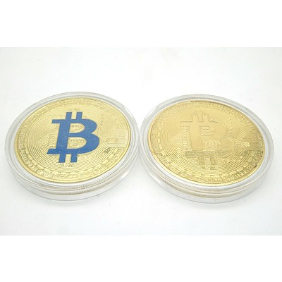 Two Bitcoin Medallions