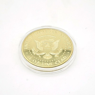 1964 John F. Kennedy Gold Clad Medallion
