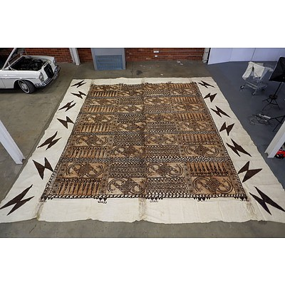 Extremely Large Tapa Cloth Gifted to Paul Keating 1992