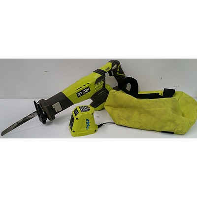 Ryobi 18Volt Cordless Reciprocating Saw Skin and Accessories