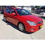 5/2008 Hyundai I30 SLX 1.6 CRDi FD 5d Hatchback Red 1.6L