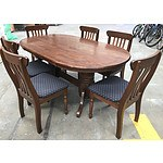 7-Piece Stained Timber Dining Setting