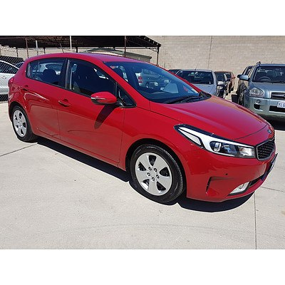 11/2016 Kia Cerato S YD MY17 5d Hatchback Red 1.8L