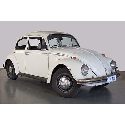 10/1970 Volkswagen 1500 Beetle 2d Sedan White 1.5L