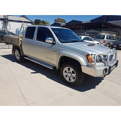 11/2011 Holden Colorado LX (4x4) RC MY11 C/chas Silver 3.0L