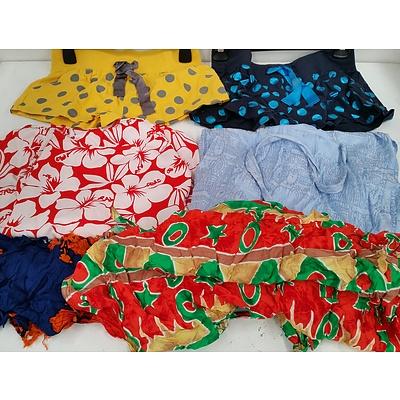 Ladies Beachwear, Wraps, Tops and Bikinis - Lot of 70 - New