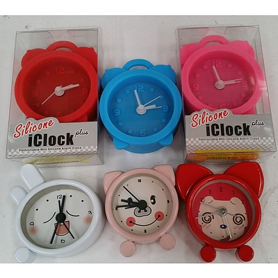 Silicon and Animal Clocks - Lot of 20 - Brand New