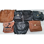 Selection of Leather Shoulder Bags and Back Packs - Lot of 30 - New