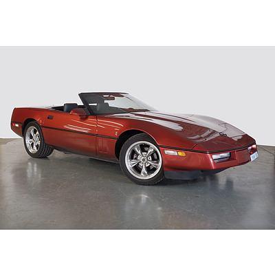 1/1986 Chevrolet Corvette C4 Convertible Maroon 5.7L