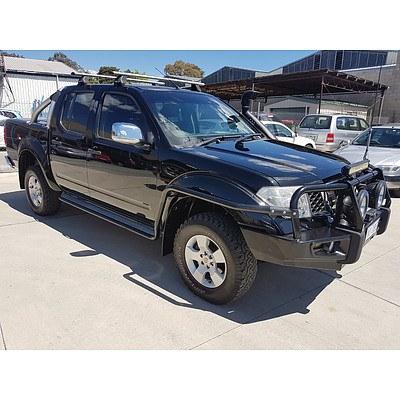 5/2008 Nissan Navara ST-X (4x4) D40 Dual Cab P/up Black 2.5L